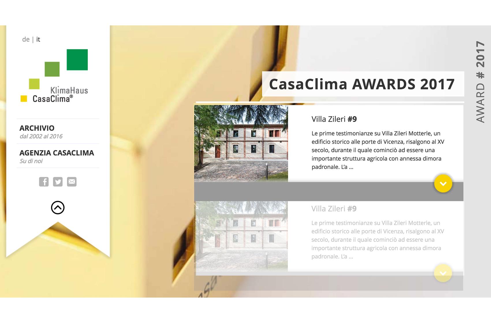 La loggia di villa zileri tra i finalisti di casaclima for Casaclima 2017